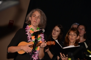 Deb Noel and the  golden strains of her Ukelele